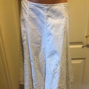 CAbi Battenberg Lace Circle Skirt Petticoat Size 4